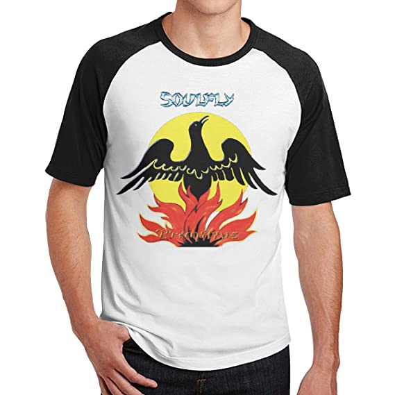 Smooffly Mens Soulfly Primitive Print Casual Crew-Neck Short Sleeves Tee
