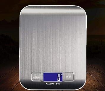 WYFDM Báscula De Cocina Digital, Báscula Electrónica para Cocinar De 11 LB / 5000 G