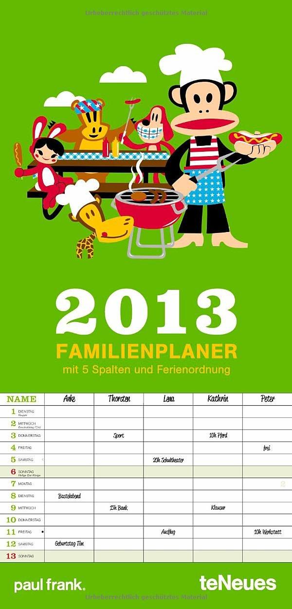 Paul Frank Familientermine 2013