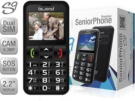 Teléfono Móvil para Personas Mayores, Teclas Grandes, Números muy ...
