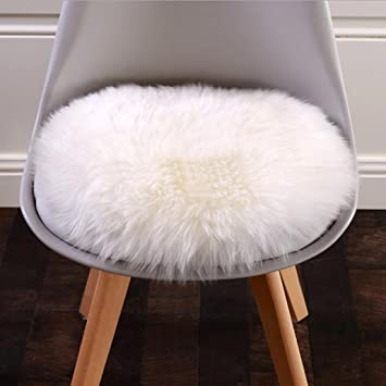 Superbe Janly® Carpets Soft Artificial Sheepskin Chair Cover Warm Hairy Carpet Seat  Pad Plain Skin Faux