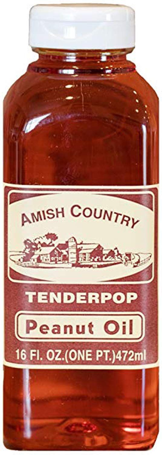Amish Country Popcorn - Peanut Oil (16 Oz) - Old Fashioned with Recipe Guide by Amish Country Popcorn