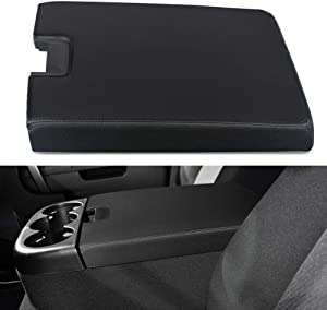 VANJING Center Console Lid Armrest Kit Cover Replacement with Latch for 2007-2013 Chevy Silverado Suburban Tahoe Avalanche GMC Sierra Pickup Center Console Cover Repair Kit-Replaces 2086415