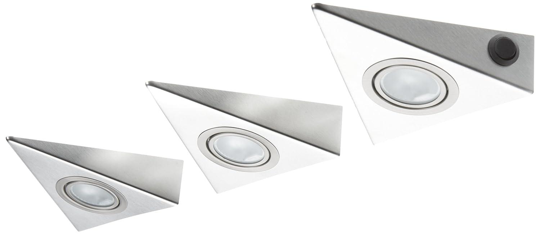 Ikm Delta Mini Dreiecksleuchten Set 3 X 20w Mit Zentralschalter