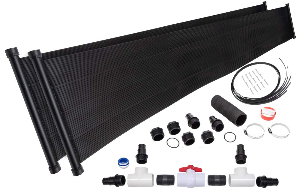 2-2'X20' SunQuest Solar Pool Heater with Diverter And Roof/Rack Mounting Kit by SunQuest