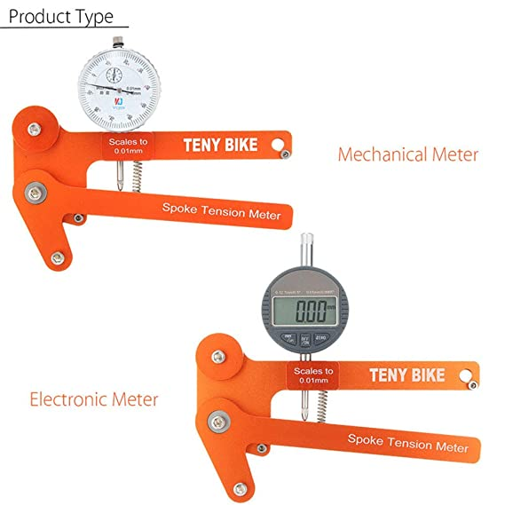 Medidor de tensión para radios de bicicleta,comprobador de voltaje,pantalla digital,herramienta crear ruedas,báscula a 0.01mm,herramienta de ajuste del ...