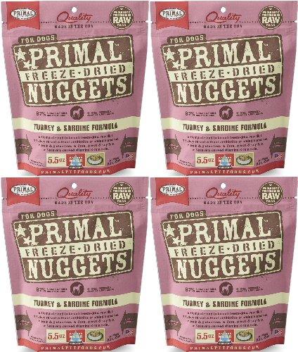 Primal Freeze-Dried Nuggets Turkey & Sardine Formula for Dogs 22oz (4 x 5.5oz)