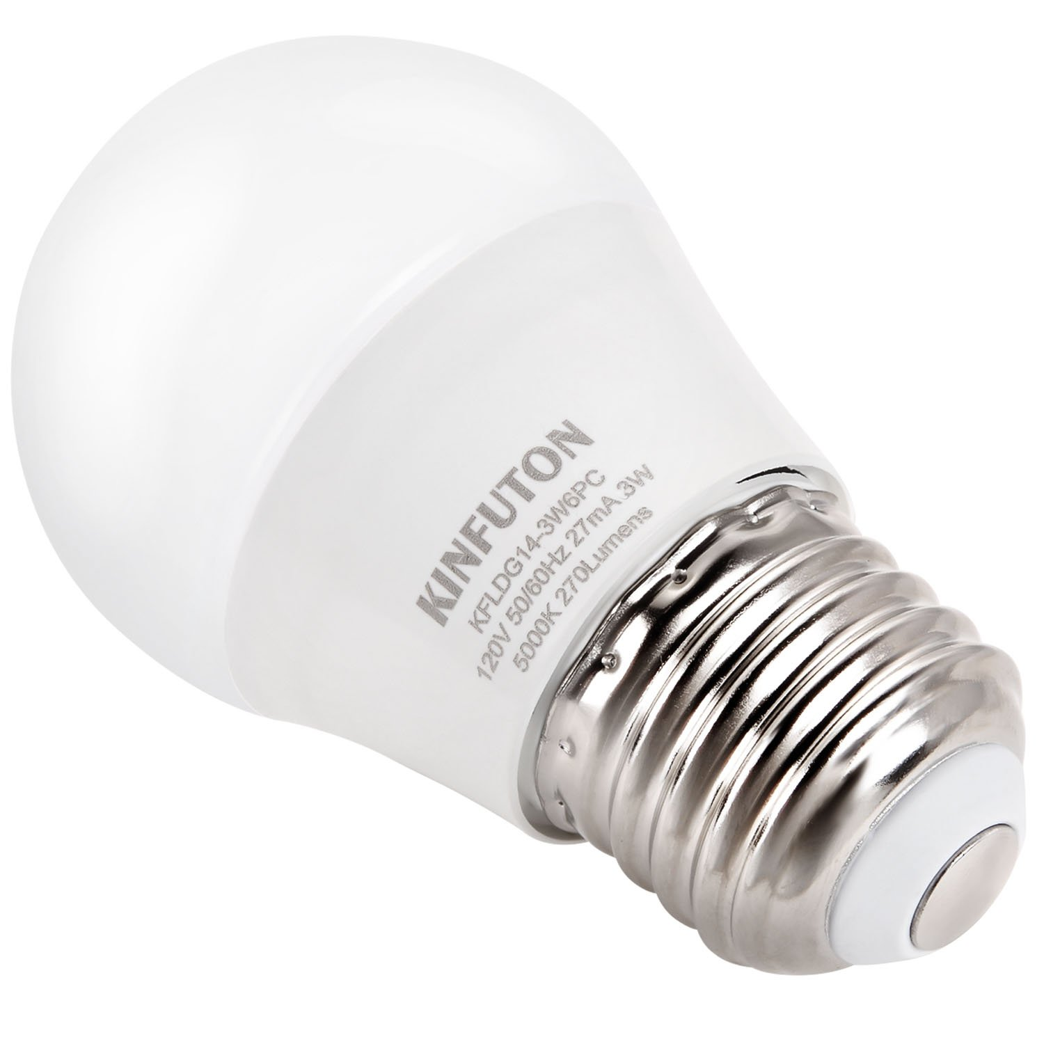 KINFUTON G14 3W Small LED Bulb Daylight White 5000K for Bathroom