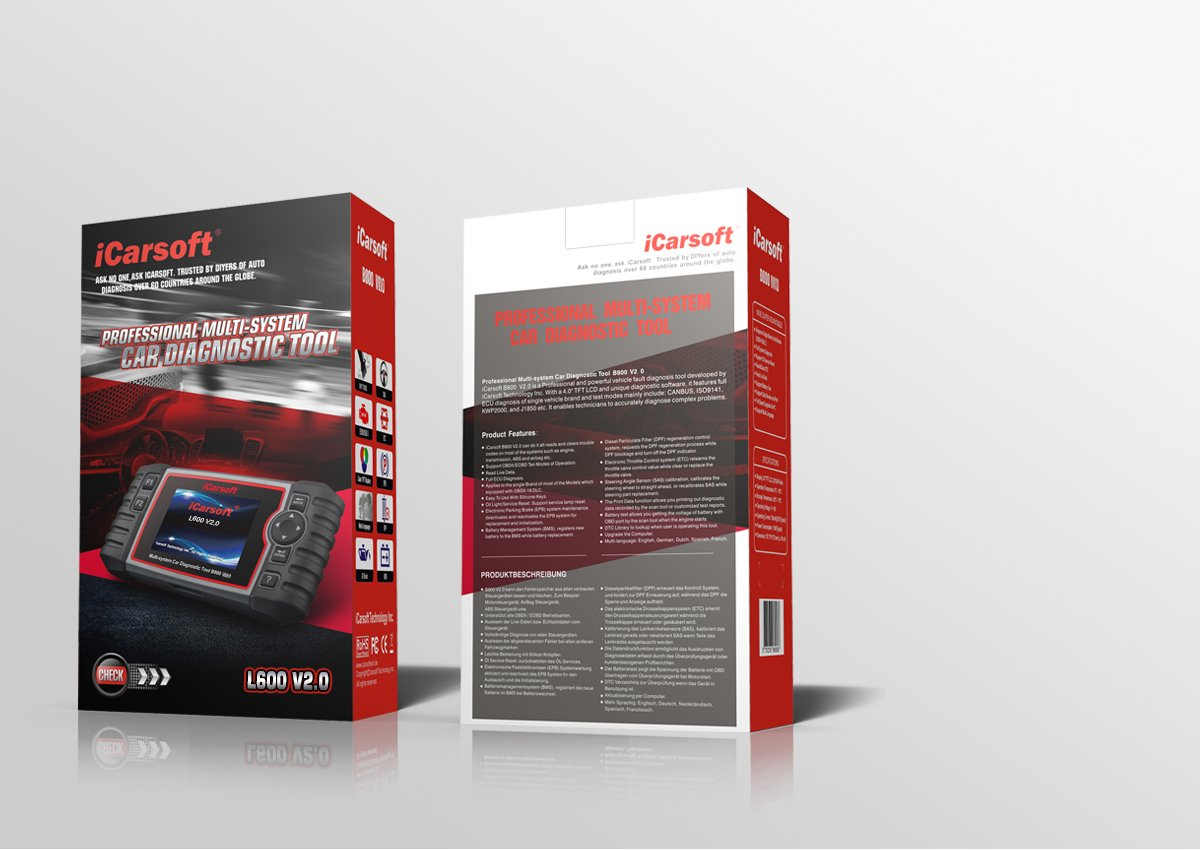 iCarsoft Auto Diagnostic Scanner L600 V2.0 for Landrover and Jaguar with ABS Scan,Oil Reset EPB etc
