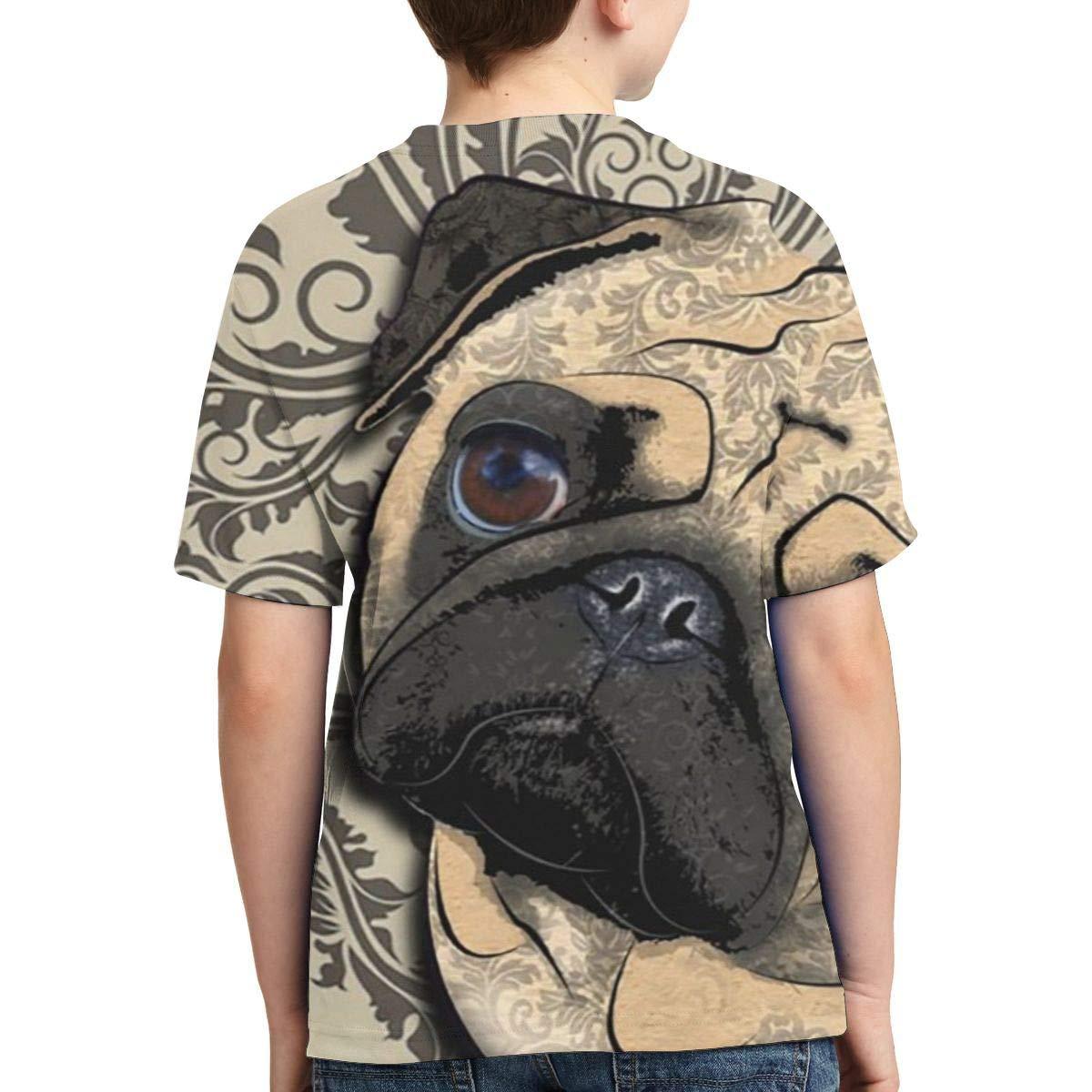 Fashion Tunic Shirt Dress XS-XL Vy32jg-2 Short-Sleeve Cute Pug Dog T-Shirts for Children