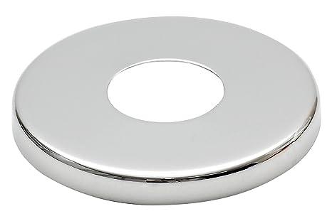 """26mm (3/4"""") Collar Acero Cromado Válvula Alto Agujero Cubrir Grifo 8mm"""