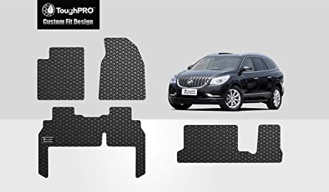 Stupendous Toughpro Floor Mats 1St 2Nd 3Rd Row Compatible With Buick Enclave Bench Seats All Weather Heavy Duty Made In Usa Black Rubber 2009 Pabps2019 Chair Design Images Pabps2019Com