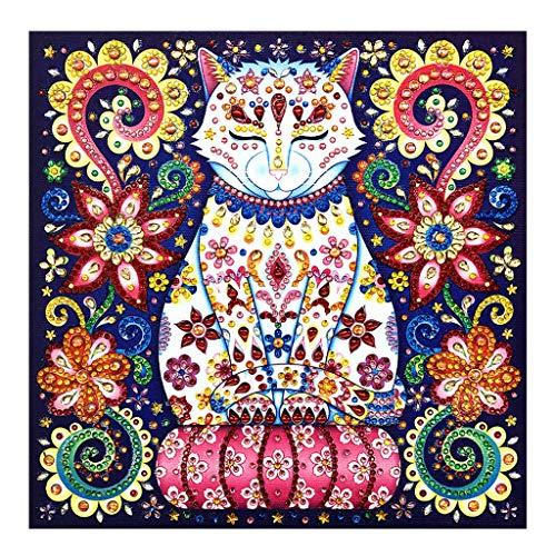 liumiKK Cat 5D Special Shaped Diamond Painting Embroidery Needlework Rhinestone Crystal Cross Craft Stitch Kit DIY
