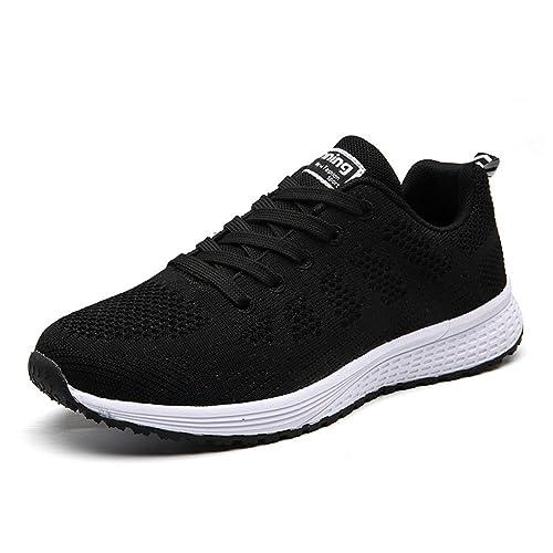 UMmaid Mujer Zapatos Deportivos Plano Zapatillas de Running Deportes para Mujer Gimnasio Correr, Negro, 35 EU: Amazon.es: Zapatos y complementos
