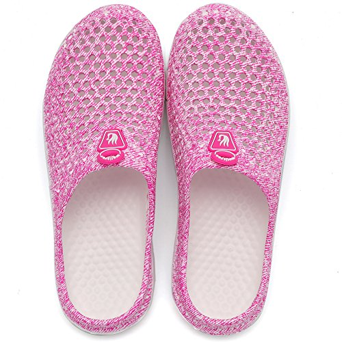 Women's Shoes Drying Unisex Slippers Quick Men's Welltree Sandals Pink Clog Garden 7qx5FgF1w