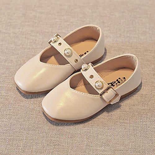 Xshuai Kind-Baby Mädchen-elegante Wölbung, die Prinzessin-Sandelholze einzelne beiläufige Schuhe bördelt Weiß