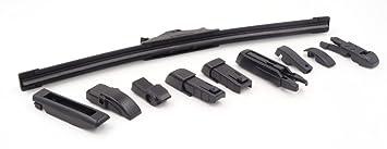 """Pack 2x Escobillas limpiaparabrisas flexibles universal 15""""-27"""" con 9 adaptadores (28"""""""