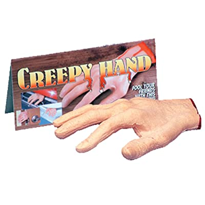 Loftus Creepy Severed Hand Halloween Decoration Prop, Pink Red: Toys & Games