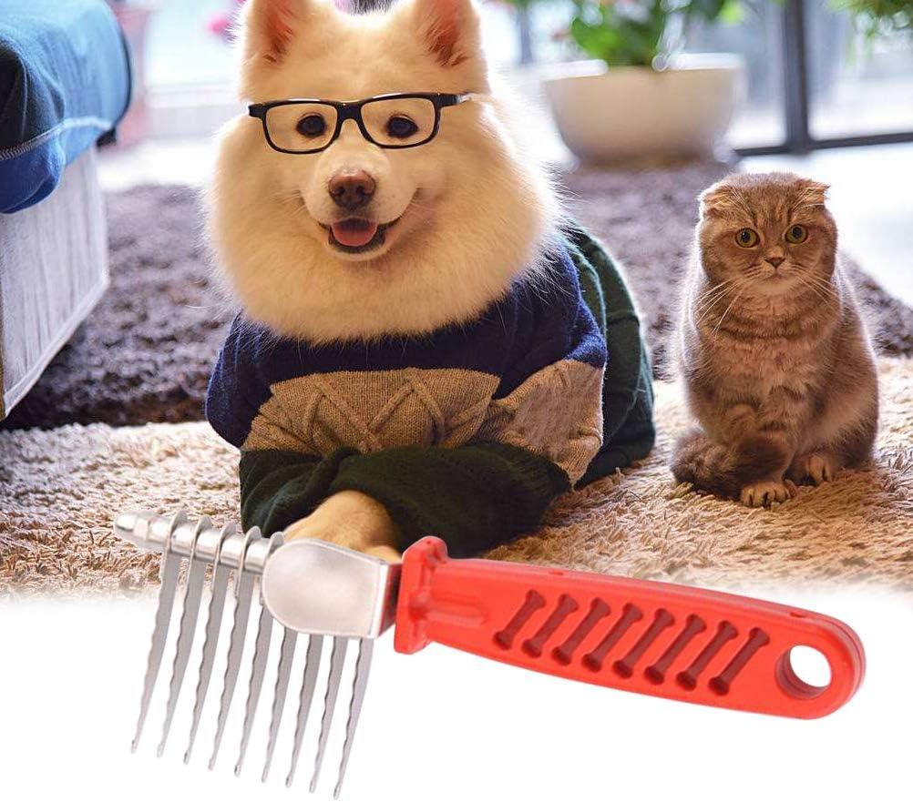 POPETPOP Pettine per Cani e Gatti Toelettatura Professionale Attrezzo Spazzola per Cani Deshedding Brush