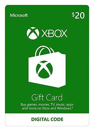 Amazon Com 20 Xbox Gift Card Digital Code Video Games