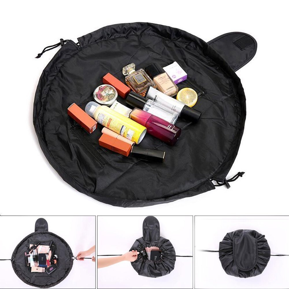 63c7e8f90 Storage Cosmetic Bags - ZoooLife High Capacity Drawstring Travel Bag  Portable Make Up Pouch Lazy Round