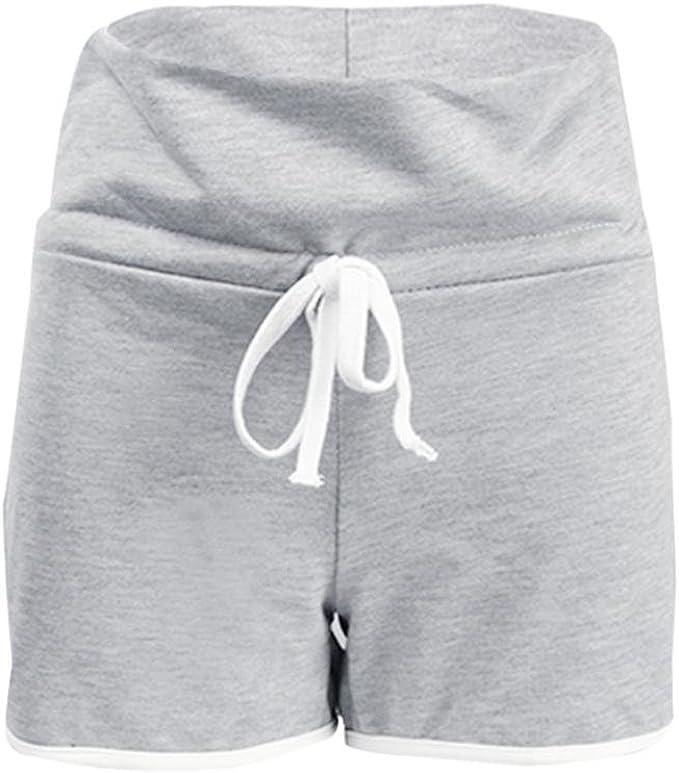 Amazon.com: bsgsh mujeres pantalones cortos de Yoga elástico ...