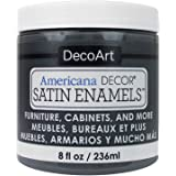 DecoArt DECADSA-36.21 Decor Satin Enamels Chargrey Americana Decor Satin Enamels 8oz Chargrey