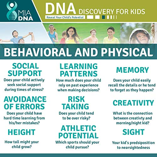 2 1 Diet & Discovery kids DNA Kit Reveal Potential. children's genes they by