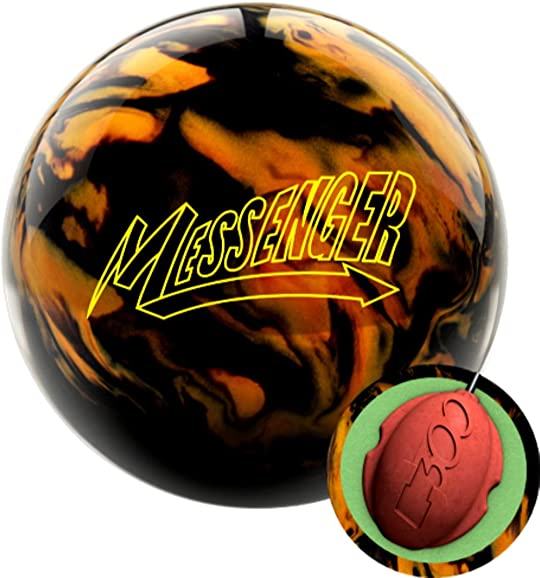 Columbia 300 Messenger Black Gold Bowling Ball