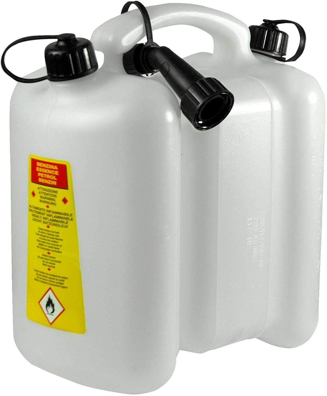 Yerd Tecomec Doppelkanister Kombi Kanister 6 3 Liter Für Benzin Und Öl Zum Betanken Von Motorgeräten Garten