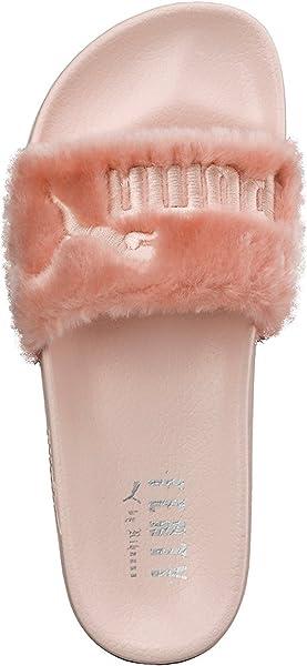 separation shoes cd0b8 fe89f Puma Pink Fenty X Rihanna Leadcat Fur Slide Women's Sandals ...