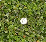 Peridot From Arizona - Natural Untreated Rough Stone 1/2 Pound Picked By Hand From San Carlos Apache Reservation - Genuine Stones For Healing, Reiki, Crystal Jewelry, Making Home Decorations