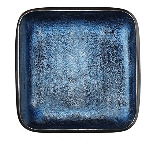 (Melange Home Decor Square Tray Platter 8.25-inch Bowl, Color - Sky)