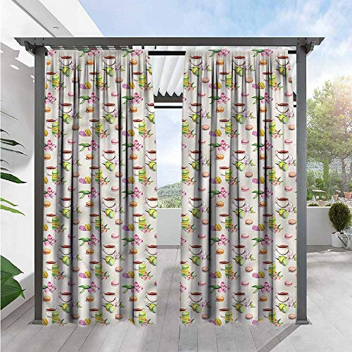 Simple Macaroon (Kitchen Outdoor Blackout Curtains Macaroons with Tea Cups Simple Stylish 84