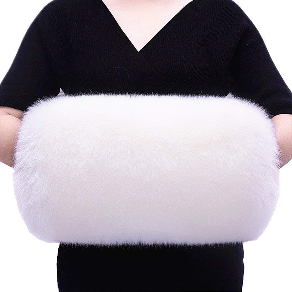 ShineGown Soft Faux Fur Hand Muffs for Women Handmuff Winter Hand-Warmmers