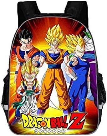 "Dragon Ball Backpack Girls Boys Kids 16/"" School Travel Bag Goku"