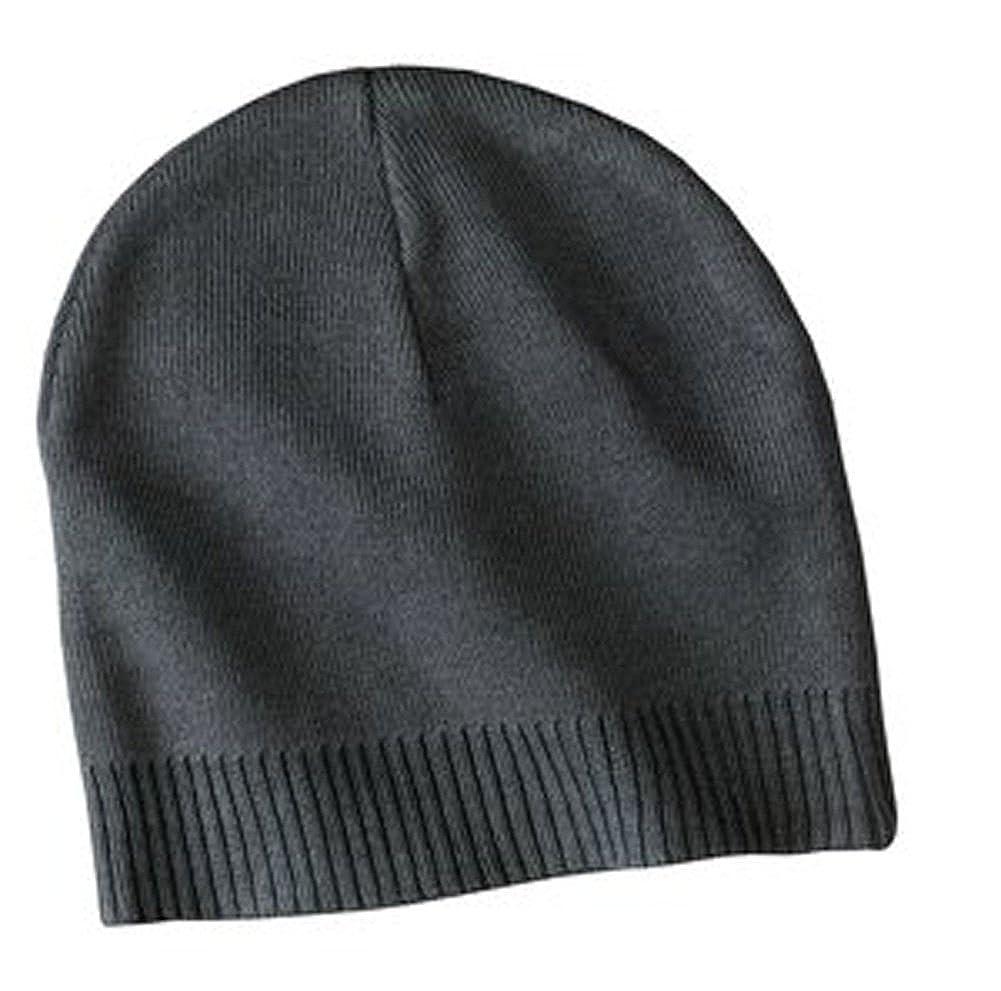 637a23dfe6f Amazon.com  Upscale 100% Cotton Beanie Hat Cap - Graphite  Clothing