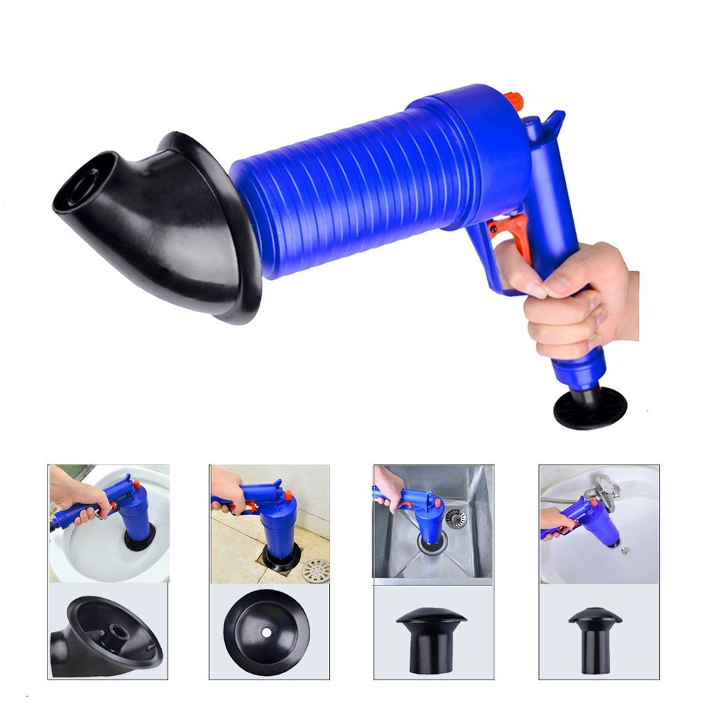 Finlon Drain Cleaning Tool Plunger Sink Sewer Dredge Tool Pipeline Dredge Drain Cleaning Tool Plunger Sewer dredge tools Toilet High Pressure Drainage Kitchen Sewer Cleaning Tools Drain Blaster Drain Cleaner Hair, Garbage, Vegetable, Bathtub Cleaning