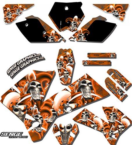 Senge Graphics 2006-2012 KTM SX 85/105, Jester Orange Graphics Kit