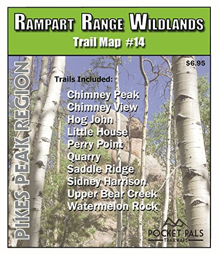 Outdoors LLC - Pikes Peak Region Trail Map No. 14 - Rampart Range Wildlands Area (Creek Saddle Trail)