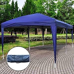 ez pop up wedding party tent 10 39 x20 39 folding gazebo beach canopy w carry bag blue. Black Bedroom Furniture Sets. Home Design Ideas
