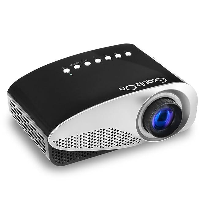 Exquizon GP8S proyector 480 * 320 de casa con entrada HDMI, USB, 3 ...