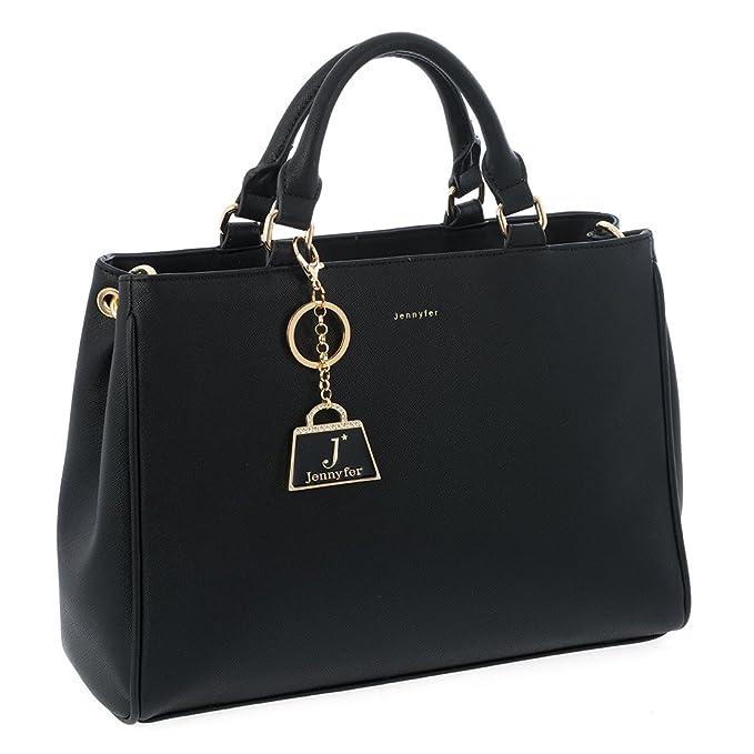 21d1f97e0 Jennyfer Bolsa Bolso Para Dama Color Negro 8519-1: Amazon.com.mx ...