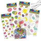 Gift Boutique Easter Cellophane Bags 100 pack, 4 assorted Styles