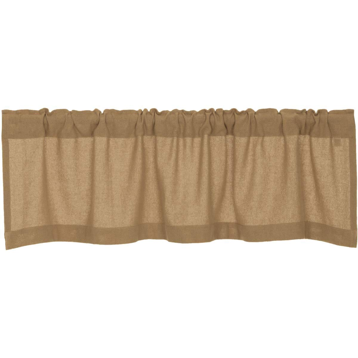 VHC Brands Burlap Natural Valance 16 x 60