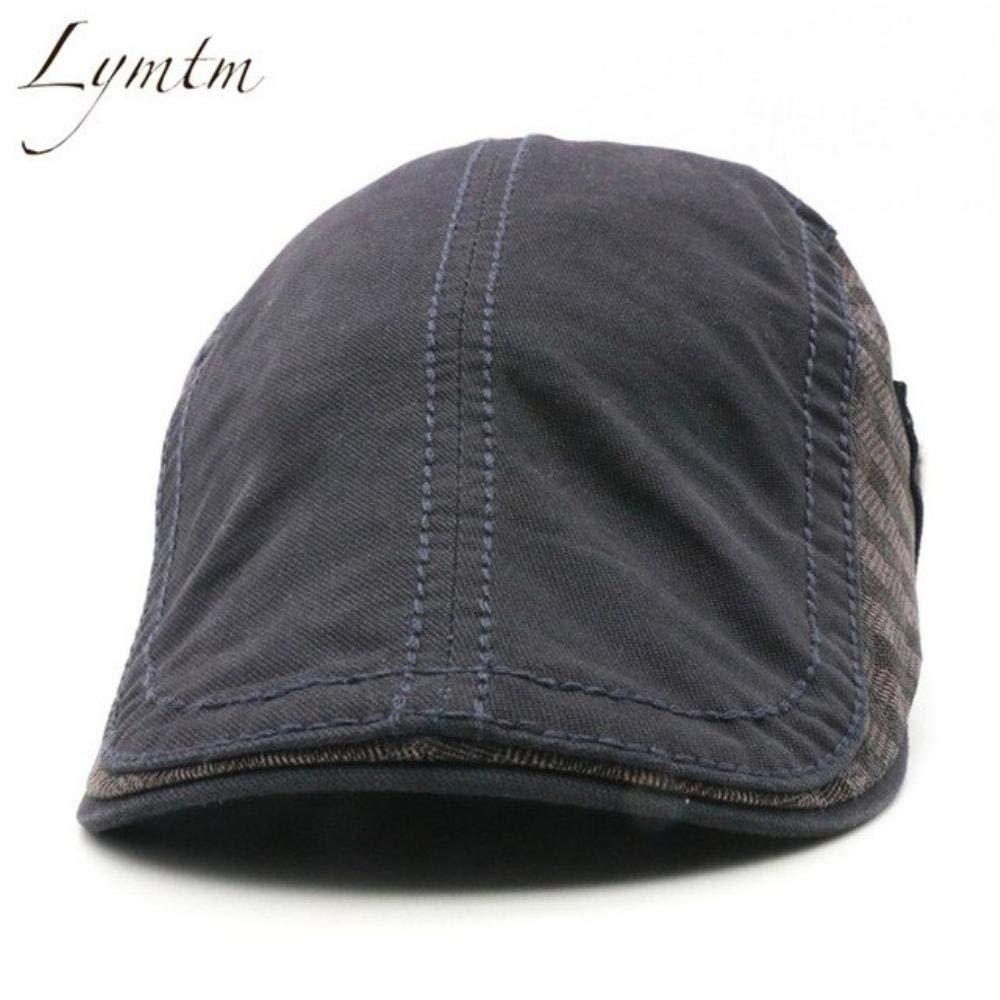 Hakazhi Inc British Retro Cotton Beret Men Army Green Visor Flat Male Caps Adjustable Bone Hat Boina Gorras