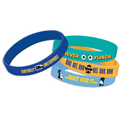 Disney Phineas and Ferb Rubber Bracelets (4) (Multi-colored) Party Accessory: Clothing