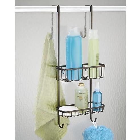 mdesign duschablage zum hngen ber die duschtr praktisches duschregal ohne bohren zu montieren - Duschzubehor Zum Hangen