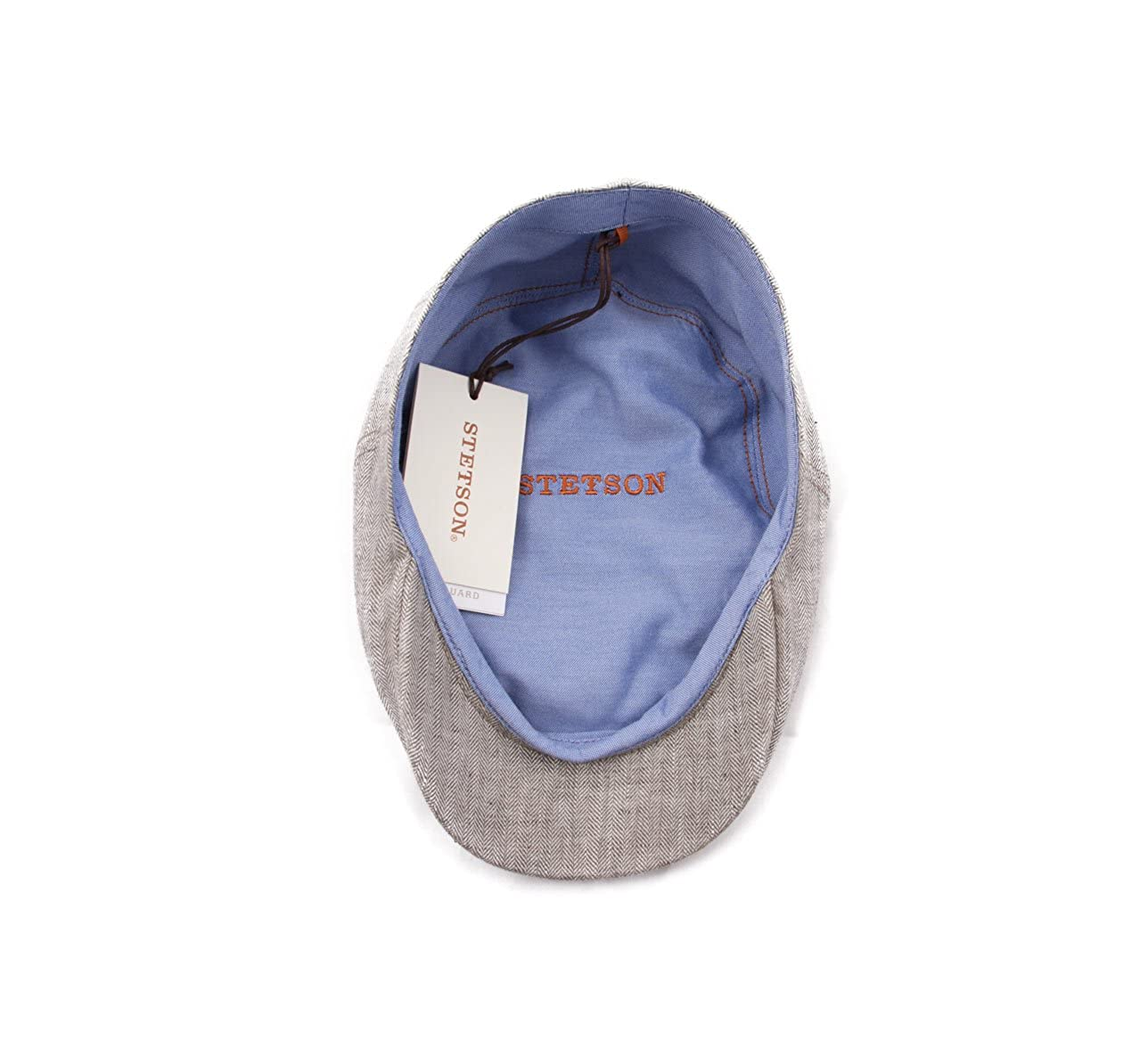 bc919007f62 Stetson Men s Ivy Cap Linen Fischgrat Flat Cap at Amazon Men s Clothing  store