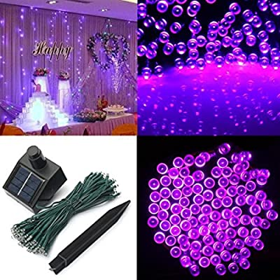 1 Pcs Super Popular 200x LED Solar Power Nightlight String Fairy Decorations Party Xmas Props Colors Pink